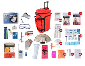 2 Person Elite Survival Kit (72+ Hours) - RED Wheel Bag