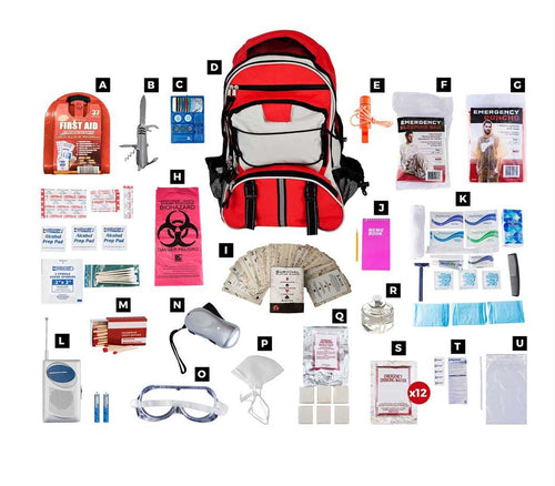 1 Person Deluxe Survival Kit (72+ hours) by 1-800-Prepare