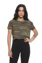 Load image into Gallery viewer, Headliner Printed Eco-Jersey Cropped T-Shirt