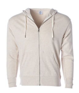 Unisex Heather French Terry קפוצ'ון רוכסן