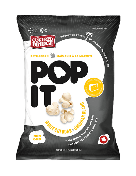 Pop It Kettlecorn Popcorn - White Cheddar
