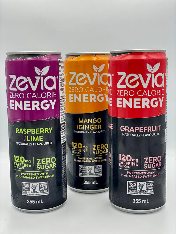Zevia Sugar Free Energy Drinks