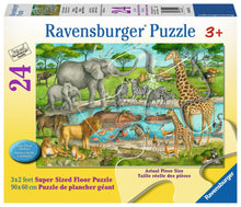 Load image into Gallery viewer, Watering Hole Delight 24pc Floor Puzzle