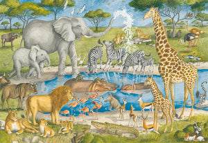 Watering Hole Delight 24pc Floor Puzzle