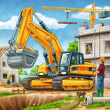 Load image into Gallery viewer, Large Construction Vehicles 3x49pc Puzzle