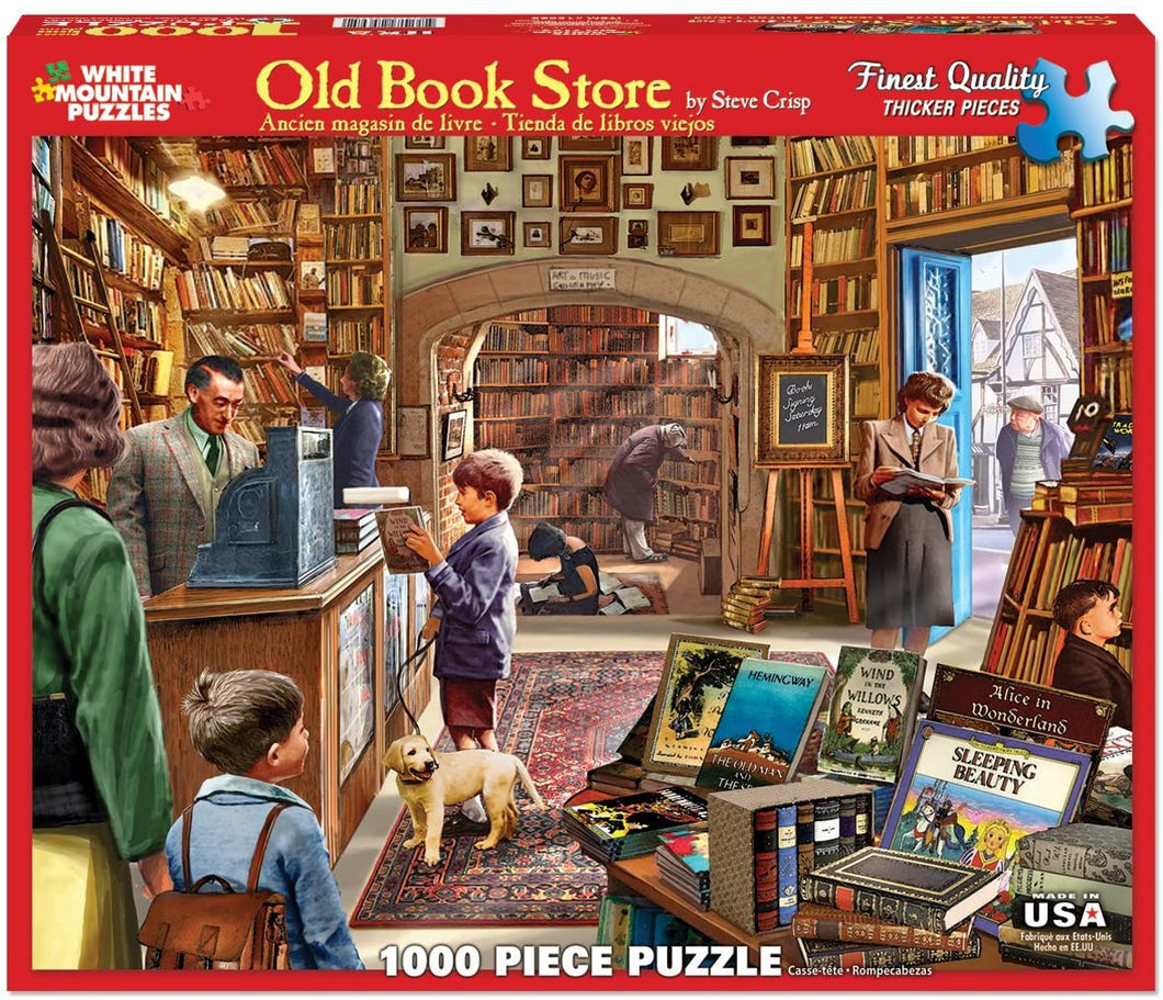 The Old Book Store 1000pc Large Format Puzzle