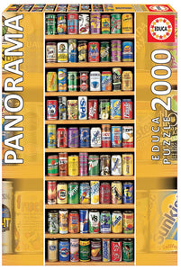 Soft Cans 2000pc Panoramic Puzzle