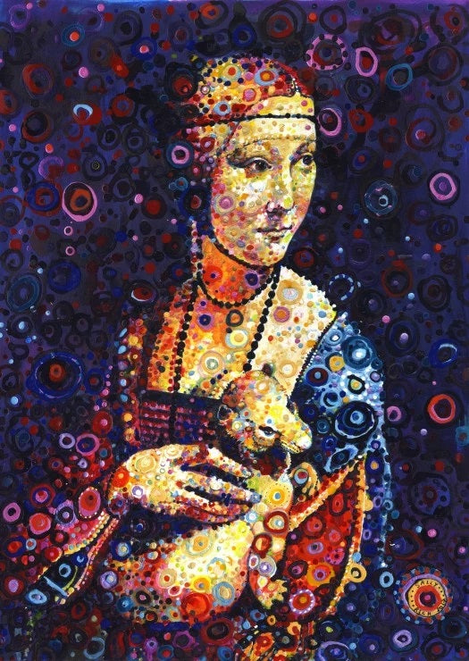 Leonard da Vinci's Lady With an Ermine by Sally Rich 1000pc Puzzle