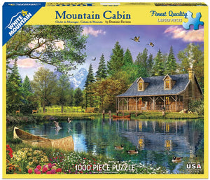 Mountain Cabin 1000pc White Mountain puzzle
