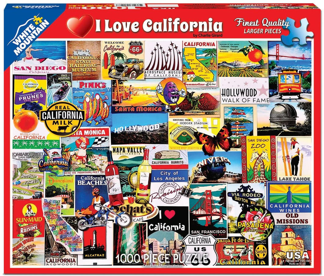 I Love California 1000pc Large Format Puzzle