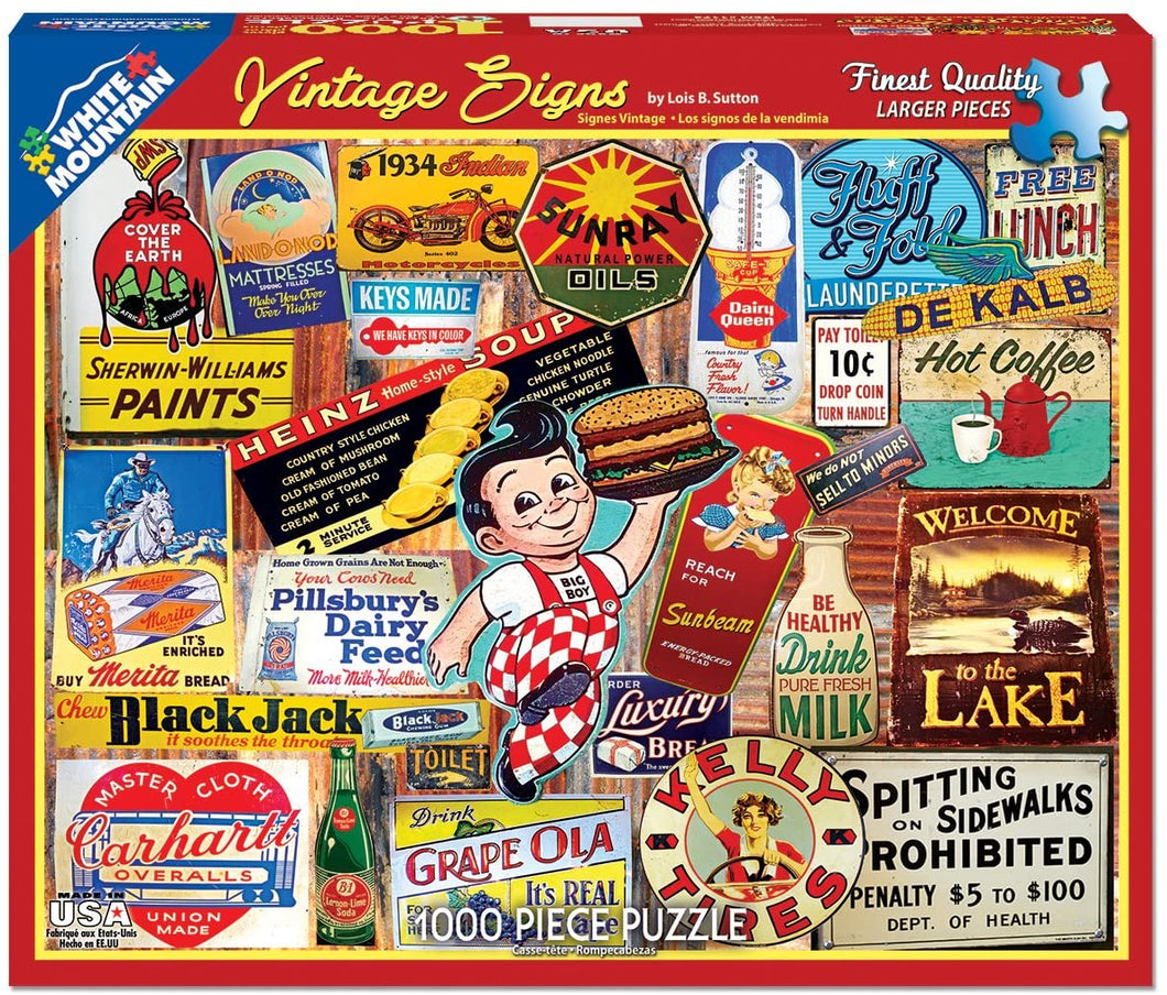 Vintage Signs 1000pc Large Format Puzzle