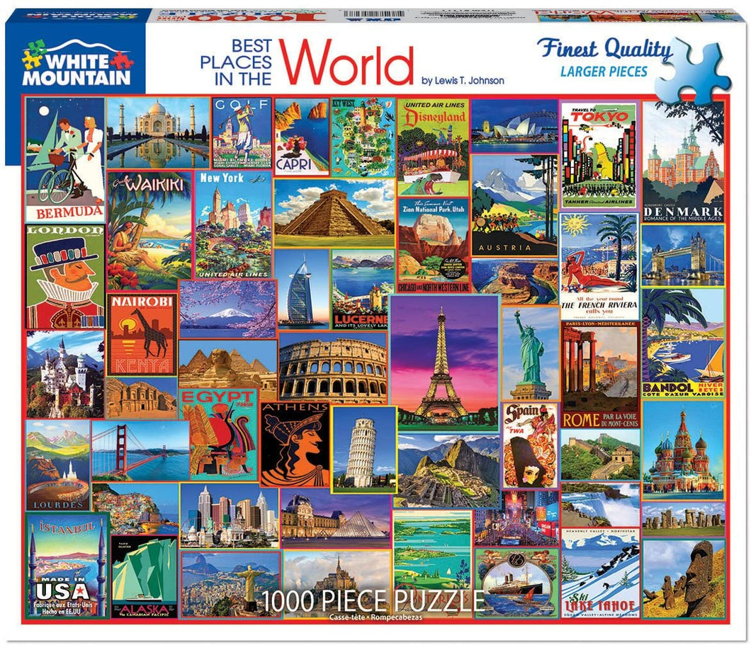 Best Places in the World 1000pc Large Format Puzzle