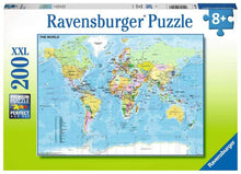 Load image into Gallery viewer, Map of the World 200pc Puzzle