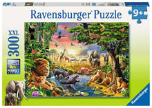 Load image into Gallery viewer, Evening at the Waterhole 300pc Puzzle