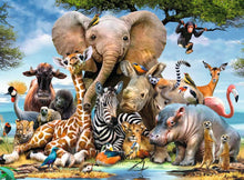 Load image into Gallery viewer, African Friends 300pc Ravensburger puzzle