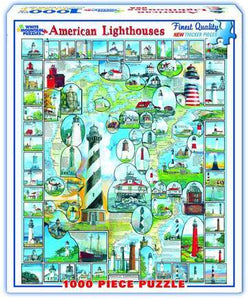 American Lighthouses 1000pc Large Format Puzzle