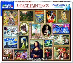 Great Paintings 1000pc Large Format Puzzle