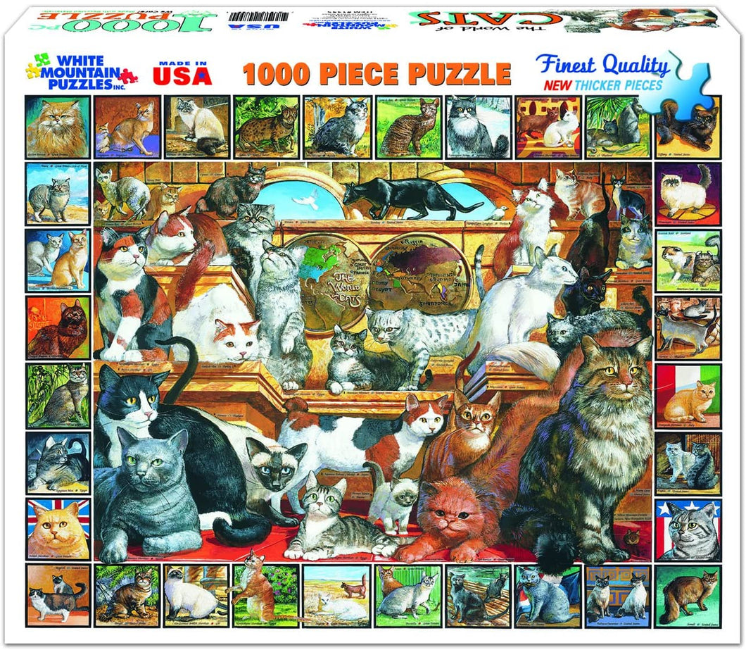 World of Cats 1000pc Large Format Puzzle