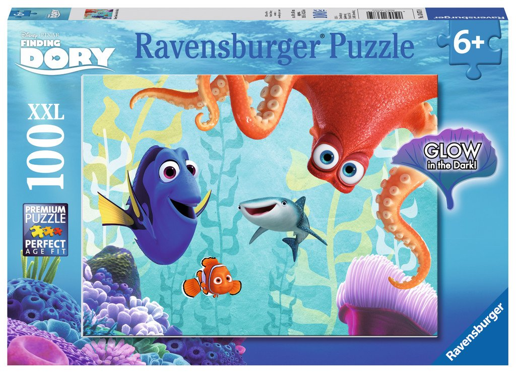 Disney: Finding Dory 100pc Puzzle - Glow in the Dark Edition