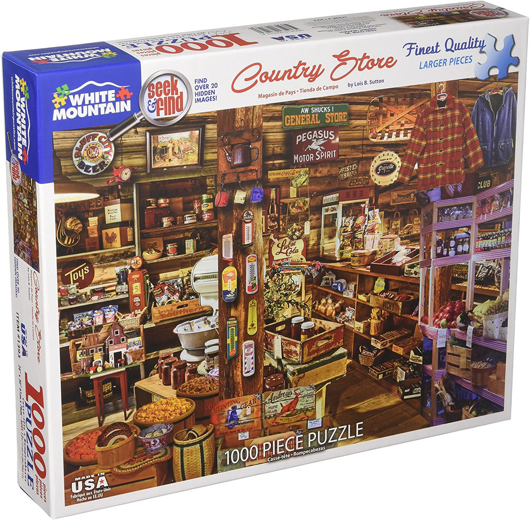 Country Store Seek & Find 1000pc White Mountain puzzle