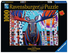 Load image into Gallery viewer, Winter Moose 1000pc Puzzle