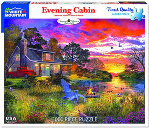 Evening Cabin 1000pc Large Format Puzzle