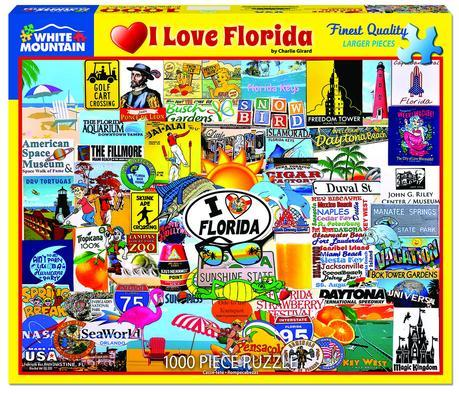I Love Florida 1000pc Large Format Puzzle