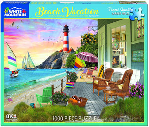 Beach Vacation 1000pc White Mountain puzzle