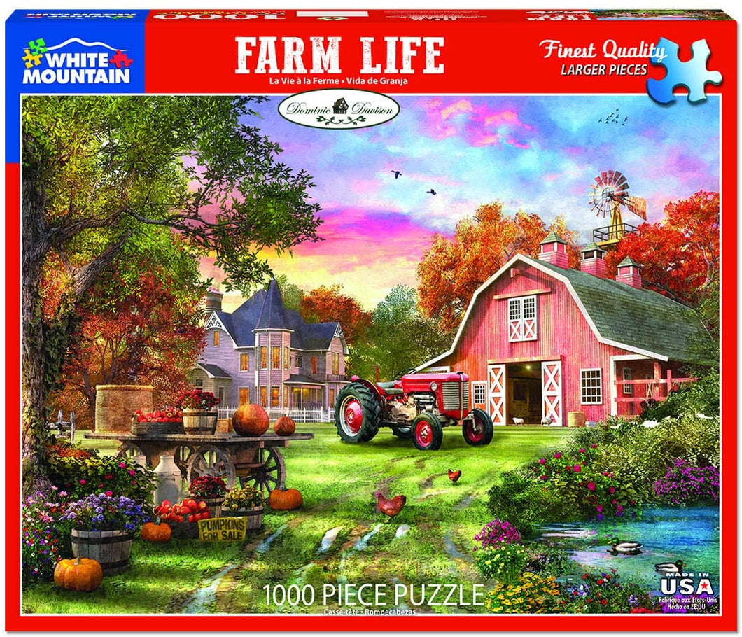 Farm Life 1000pc White Mountain puzzle