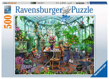 Load image into Gallery viewer, Greenhouse Mornings 500pc Ravensburger puzzle
