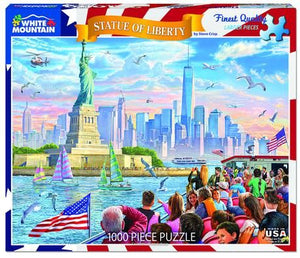 Statue of Liberty 1000pc White Mountain puzzle