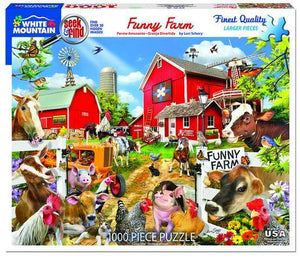 Seek & Find: Funny Farm 1000pc Large Format Puzzle
