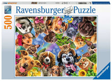 Load image into Gallery viewer, Animal Selfie 500pc Ravensburger puzzle