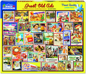 Great Old Ads 1000pc Large Format Puzzle