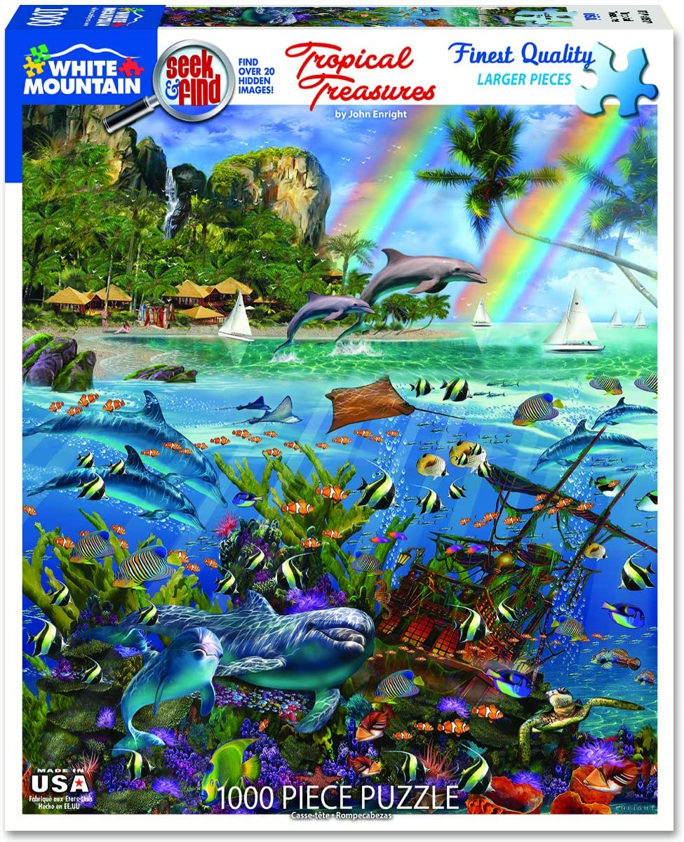 Tropical Treasures Seek & Find 1000pc White Mountain puzzle