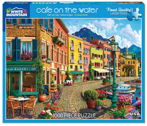 Cafe on the Water 1000pc White Mountain puzzle