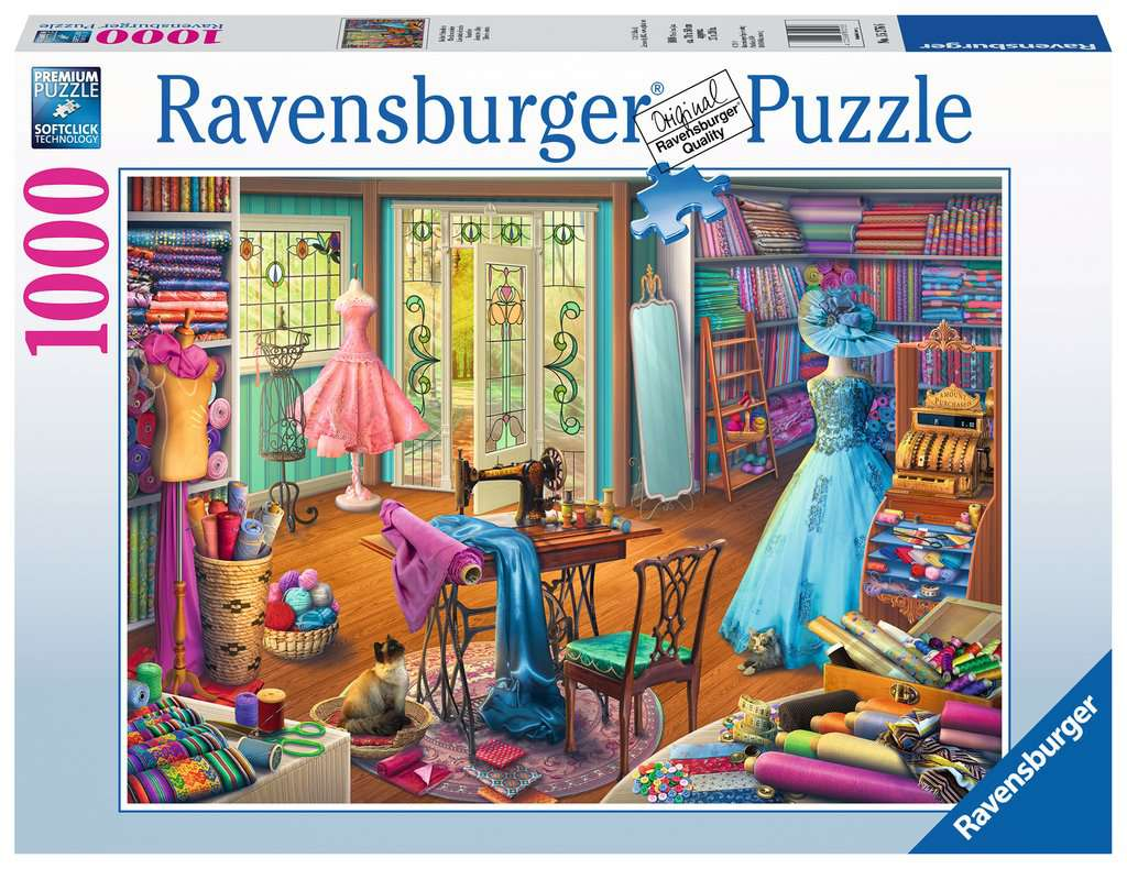 Seamstress Shop 1000pc Ravensburger puzzle