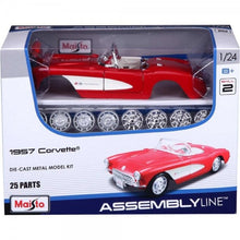 Load image into Gallery viewer, Assembly Line: 1:24 1957 Corvette