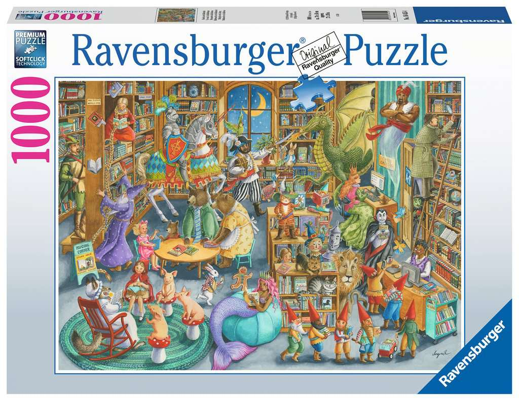 Midnight at the Library 1000pc Ravensburger puzzle