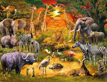 Load image into Gallery viewer, Gathering at the Waterhole 2000pc Ravensburger puzzle