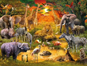 Gathering at the Waterhole 2000pc Ravensburger puzzle