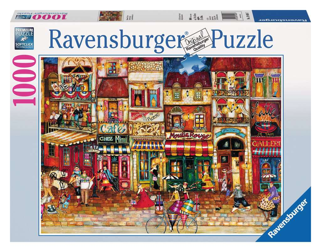 Streets of France 1000pc Ravensburger puzzle