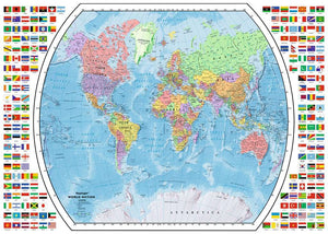 Political World Map 1000pc Puzzle
