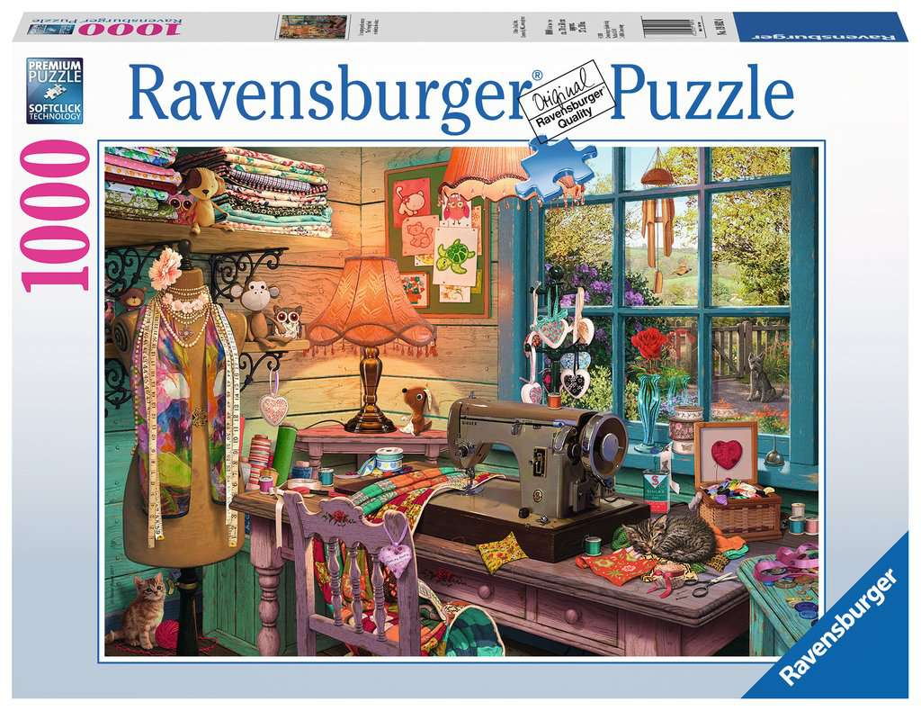 The Sewing Shed 1000pc Ravensburger puzzle