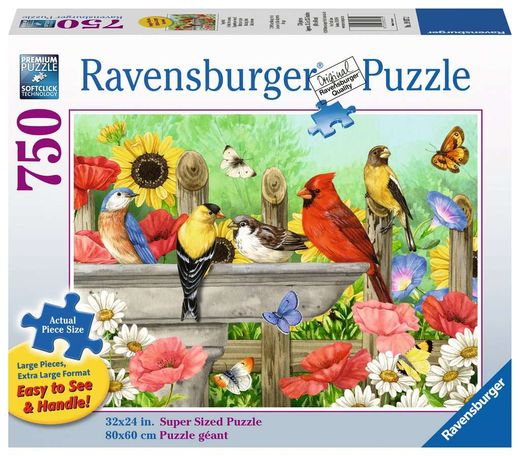 Bathing Birds 750pc Ravensburger puzzle