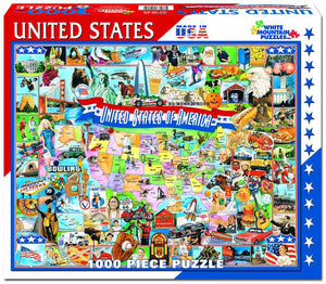 United States of America 1000pc White Mountain puzzle
