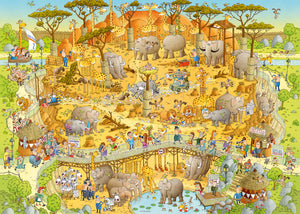 Funky Zoo: African Habitat 1000pc Puzzle
