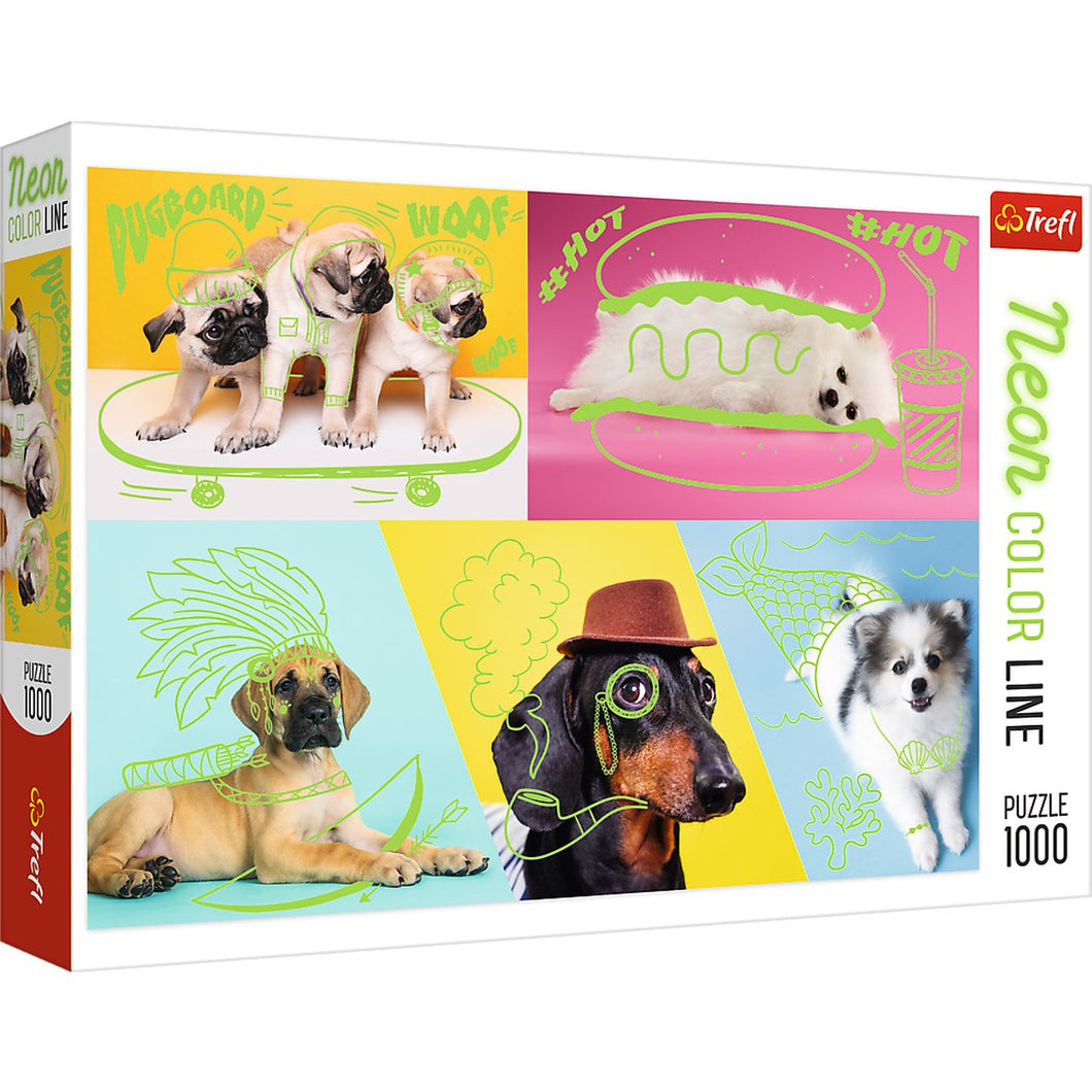 Neon: Far Out Dogs 1000pc Puzzle