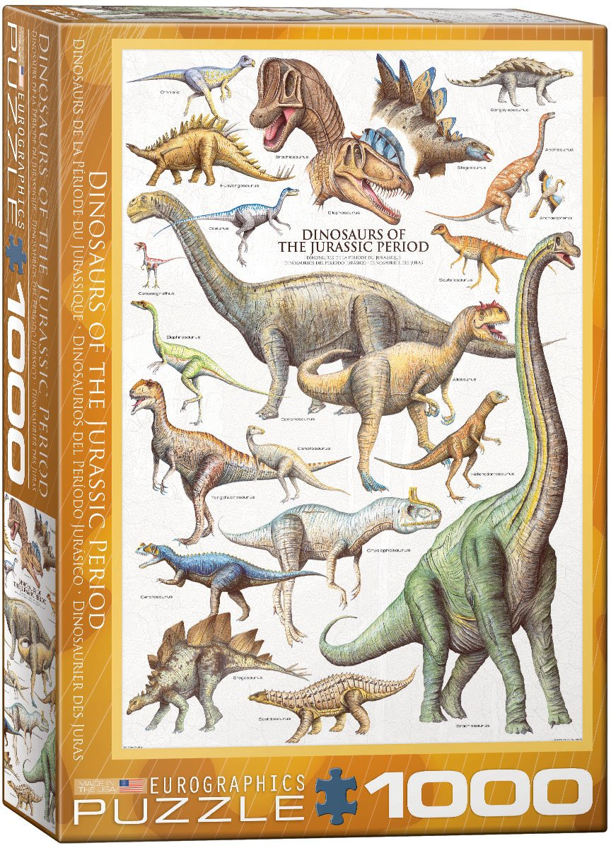 Dinosaurs of the Jurassic Period 1000pc Puzzle