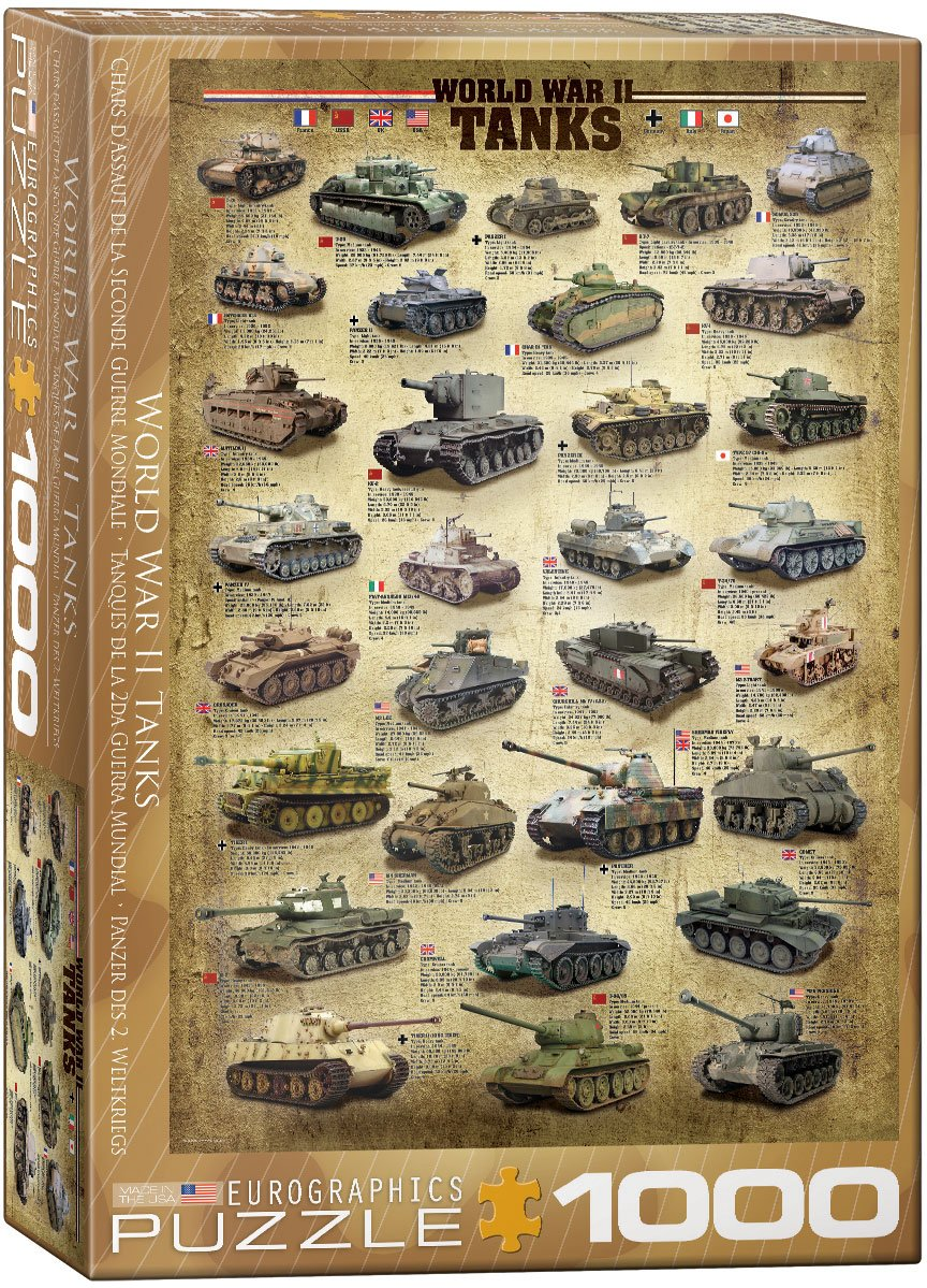 World War II Tanks 1000pc Puzzle